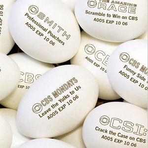 eggadvertising, publicidad impresa en huevos