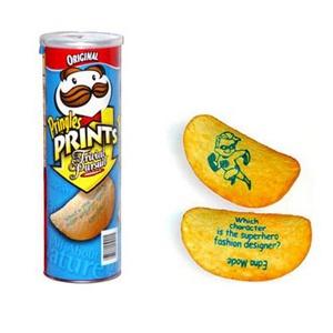 publicidad impresa en patatas fritas