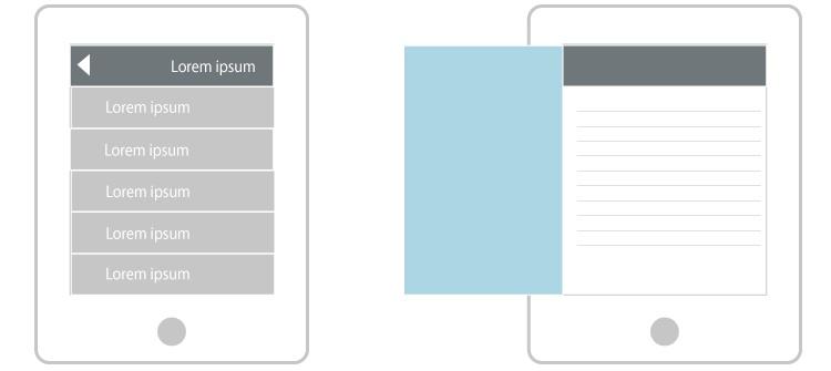 patrones menú móvil responsive