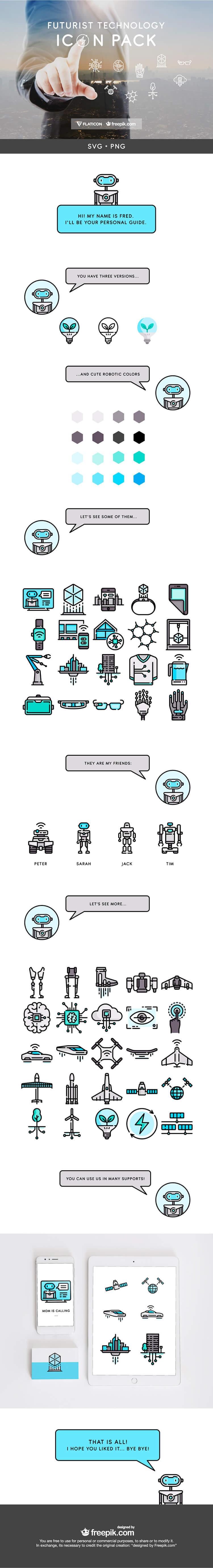 iconos tecnología del futuro